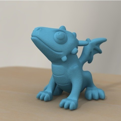 2ef064fb06e1ecbe9f9c4b040322e0db_preview_featured.jpg Download free STL file cute dragon (remodeled) • 3D printable object, bs3