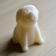 Free 3D printer files sitting dog, bs3