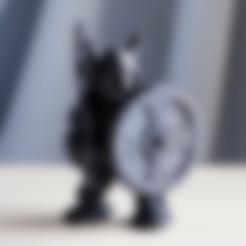 Download free STL file warrior worn viking helmet • 3D printer template, bs3