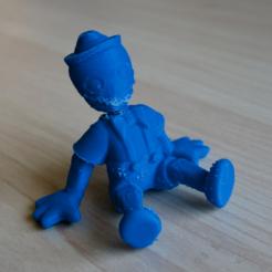 Free sitting puppet 3D printer file, bs3