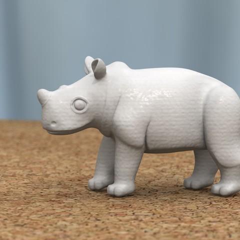 baby rhino [HIGH-POLY]