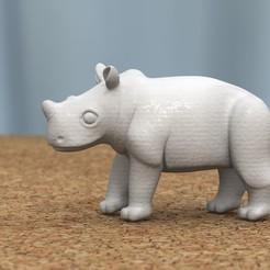Descargar modelos 3D para imprimir bebé rinoceronte[HIGH-POLY], bs3