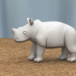 Modelos 3D para imprimir bebé rinoceronte[HIGH-POLY], bs3
