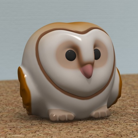 Download 3D printer files Lovely Owl [COLOR], bs3