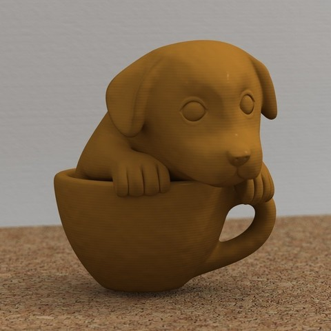 Imprimir en 3D gratis cachorro de taza, bs3
