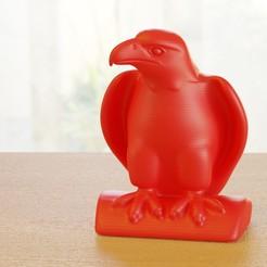 eagle_01.jpeg Download free STL file Eagle on branch • 3D print design, bs3