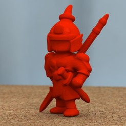 Download free 3D printing models ancient Chinese warrior with spear, bs3