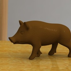 Free stl walking boar, bs3