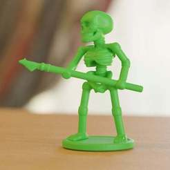 Download free 3D model skeleton soldier with spear, bs3
