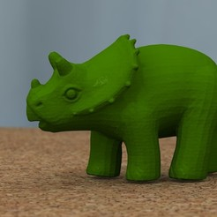 Descargar modelos 3D gratis triceratops para bebés, bs3