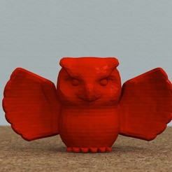 Modèle 3D gratuit Hibou aux ailes déployées[GRATUIT], bs3