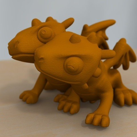 1a9591b38ee9e9edf32fbefec5322c5a_display_large.jpg Download free STL file cute dragon couple • 3D print model, bs3