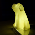 Download free 3D printing templates sitting dog, bs3