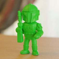 BobaFeet15_01.jpg Download free STL file Armed Sci-Fi character (2) • Model to 3D print, bs3