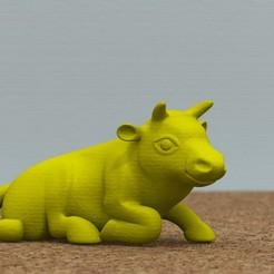 Download 3D printing files bull lying down, bs3