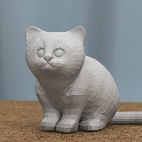 Free STL files sitting kitten [FREE], bs3