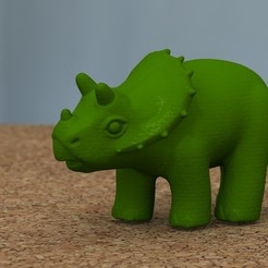 Download 3D printing designs baby triceratops [HIGH-POLY], bs3