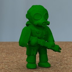 Download free 3D printing models soldier with hammer [FREE], bs3