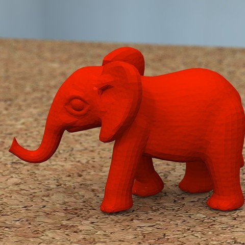 Download free 3D printer designs baby elephant, bs3