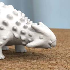 Download free 3D printer model ankylosaurus -remodeled head-, bs3
