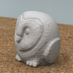 Free 3D printer designs Lovely Owl [FREE], bs3