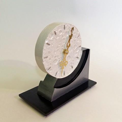 Diseños 3D Reloj Art Decó del Lado Lejano de la Luna, Breezor