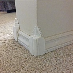 3D printing model Art Deco Baseboard Corner Moldings, Breezor