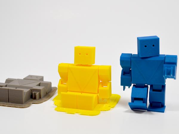 Threerobots.png Download free STL file Action Robot • 3D printer object, leFabShop