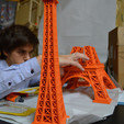 Free 615 mm Eiffel Tower 3D printer file, leFabShop