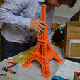 Download free 3D printer files 615 mm Eiffel Tower, leFabShop