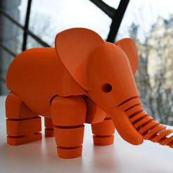 Download free STL file Elephant • 3D printing object, leFabShop