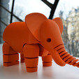 Download free STL file Elephant, leFabShop