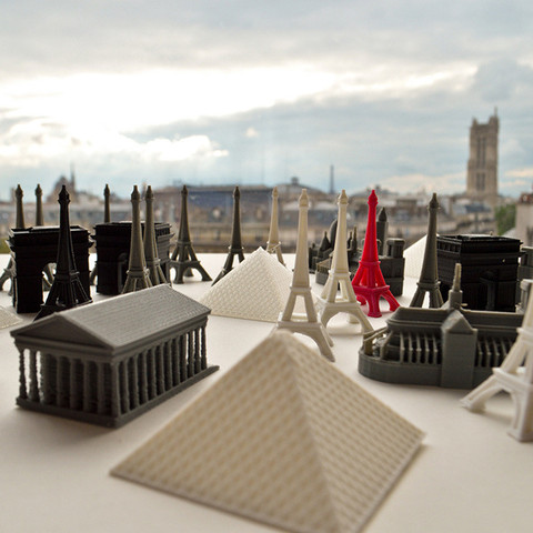Download free 3D printing designs Famous Paris buildings, leFabShop