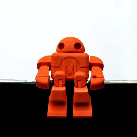 Descargar Modelos 3D para imprimir gratis Maker Faire Robot Action Figure (Single file), leFabShop