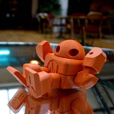 robot_maker_faire_lefabshop_paris_1.jpg Download free STL file Maker Faire Robot Action Figure (Single file) • 3D printer object, leFabShop