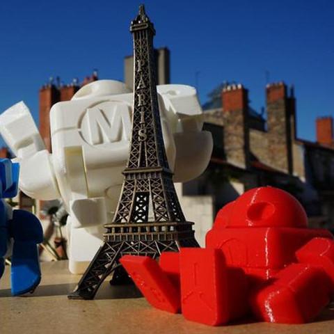 Maker_Faire_Paris_Cults_Robot_leFabShop_3.jpg Download free STL file Maker Faire Robot Action Figure (Single file) • 3D printer object, leFabShop