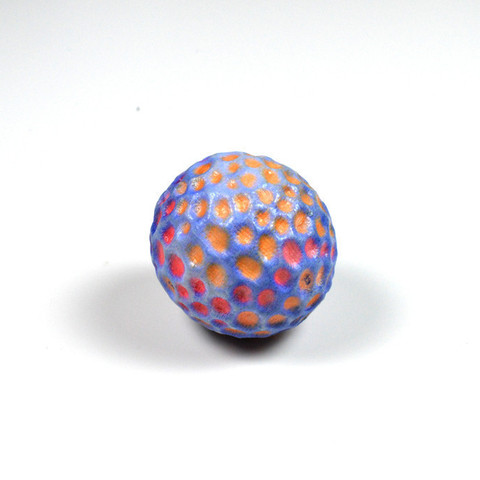 Free stl files A colourful ball designed with 123D Sculpt, leFabShop