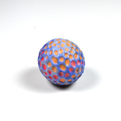 Download free 3D printer designs A colourful ball designed with 123D Sculpt, leFabShop