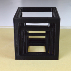 Download free 3D printer designs The triple cube bridge test, leFabShop