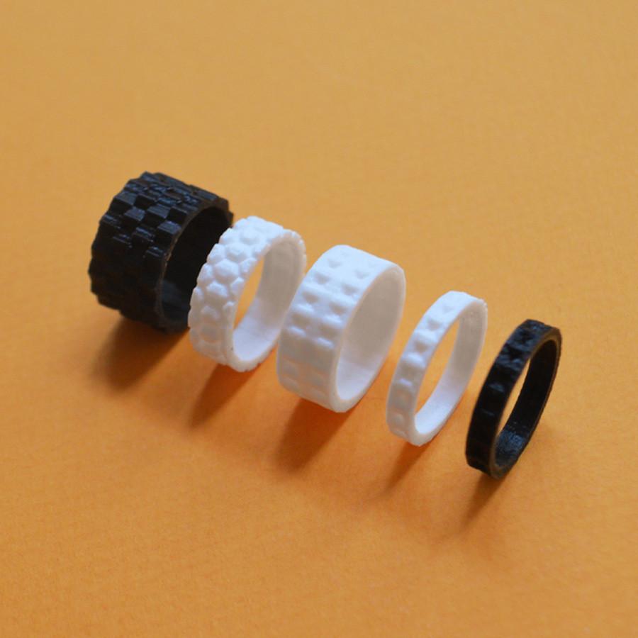 "1.jpg Download free STL file the ""Bling Rings"" • 3D print model, leFabShop"