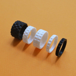 "Free 3d printer files the ""Bling Rings"", leFabShop"