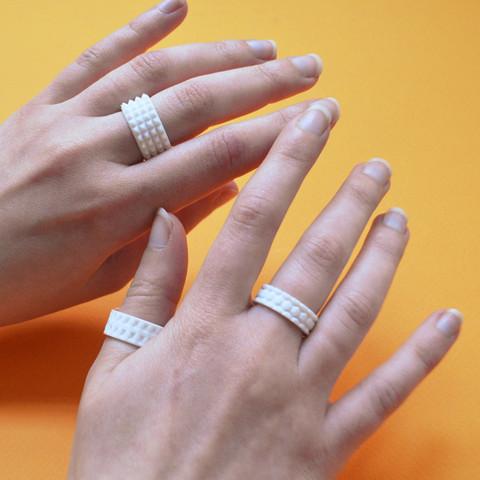 "2.jpg Download free STL file the ""Bling Rings"" • 3D print model, leFabShop"