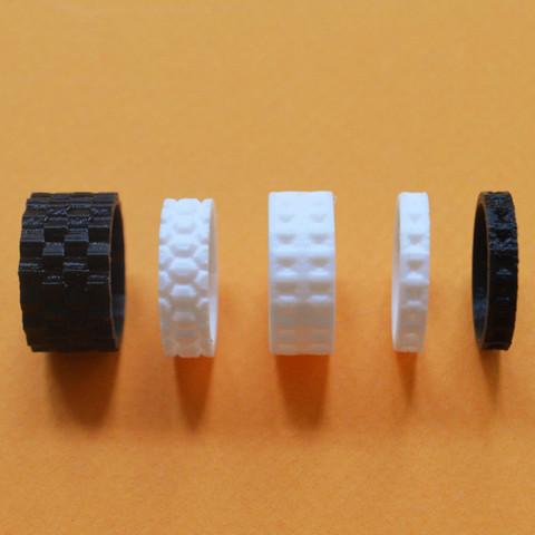 "5.jpg Download free STL file the ""Bling Rings"" • 3D print model, leFabShop"