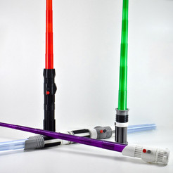 Download free 3D printing templates Telescopic Light Saber, leFabShop