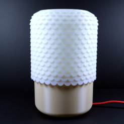 Free Tile Lamp 3D printer file, leFabShop