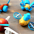 Download free 3D printer templates Open Toys, leFabShop