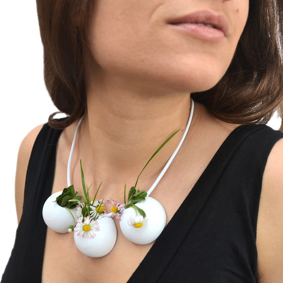4.jpg Download free STL file Demi-Sphere flowerpot necklace • 3D printable model, leFabShop