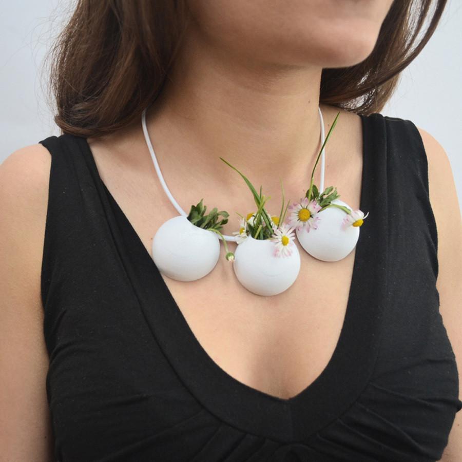 3.jpg Download free STL file Demi-Sphere flowerpot necklace • 3D printable model, leFabShop