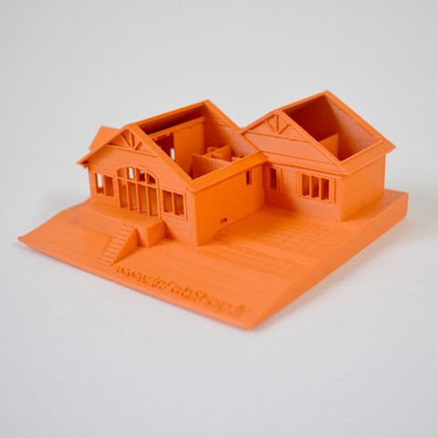 Free 3D printer files I printed my parent's house in Canada, leFabShop