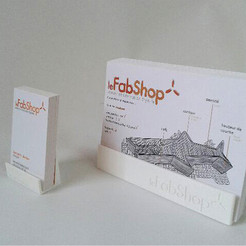 Download free STL files le FabShop business card and flyer holder, leFabShop